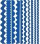 Набор бумажных ленточек Just the Edge 1 30,5 см Синий